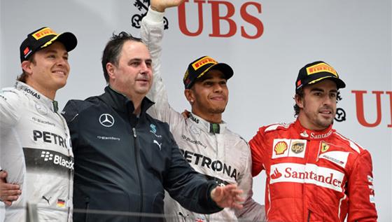 F1グランプリ第4戦中国GPは、ルイス・ハミルトンが首位!3連勝を飾る