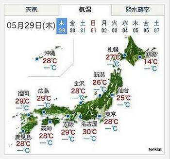 今まさに日本列島が暑いっつ!?その暑さはもう7月並み!?