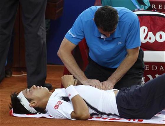 テニスの錦織圭が腰の痛みを訴え途中棄権もマドリードOP準優勝!世界ランキングも堂々のトップ10入り