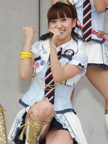 "AKB大島優子、ファンに""晴れ乞い""をお願い"
