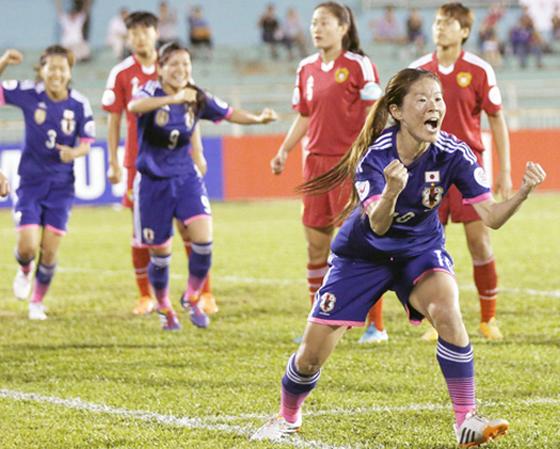 サッカーの女子代表なでしこジャパン、アジアカップ準決勝で中国を退け、優勝に大手!