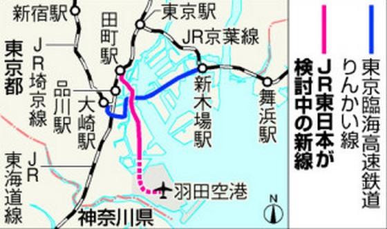 羽田空港から直通で東京ディズニーランドにいけるかも!?JR東日本が新線開業を検討