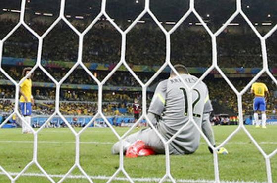 FIFAワールドカップ2014年ブラジル大会、準決勝 ブラジル対ドイツ 好ゲームが期待されましたが、ブラジルが1-7の歴史的大敗…