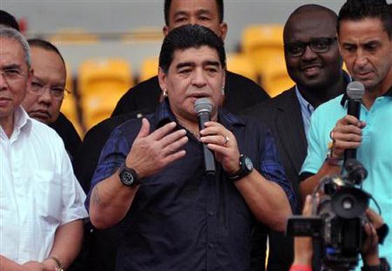 アルゼンチンのマラドーナ氏がサッカーベネズエラ代表監督就任に前向き【動画有】